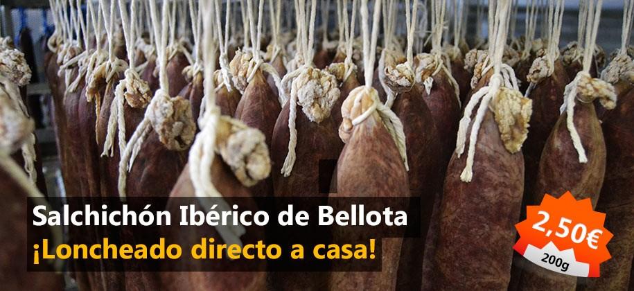 Loncheado de salchichón Ibérico de Bellota