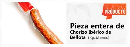 Pieza entera de Chorizo Ibérico de Bellota